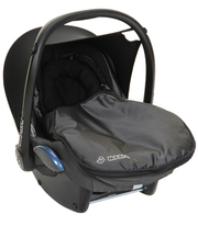 MAXI COSI CAR SEAT 0-9 MONTHS,  INC. FOOTMUFF,  NEWBORN HEADSET ETC.